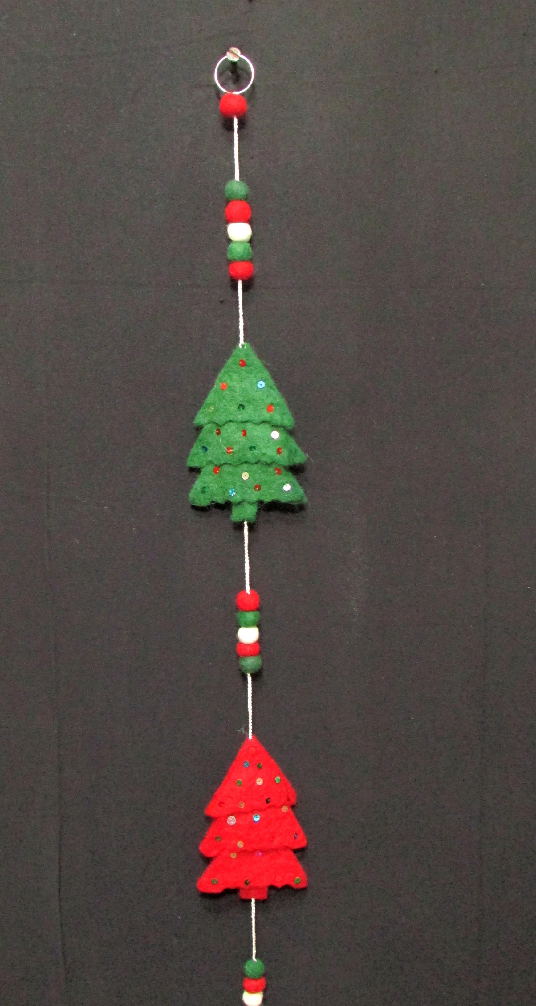 Felt Pom Pom Ball Christmas Tree Bell Wall Door Ring Hanging String Garland F149 Nepal Agora