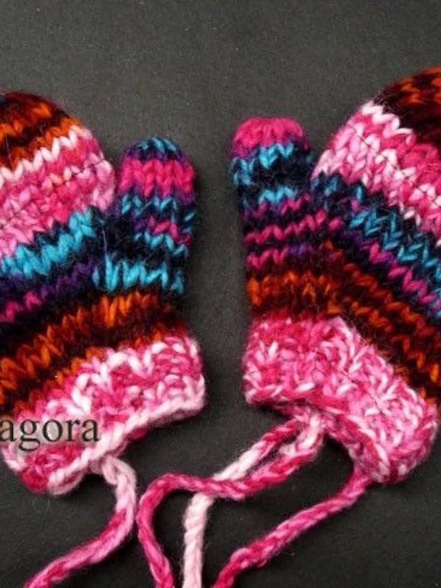 100% Sheep Wool Kid Winter Gloves - G08