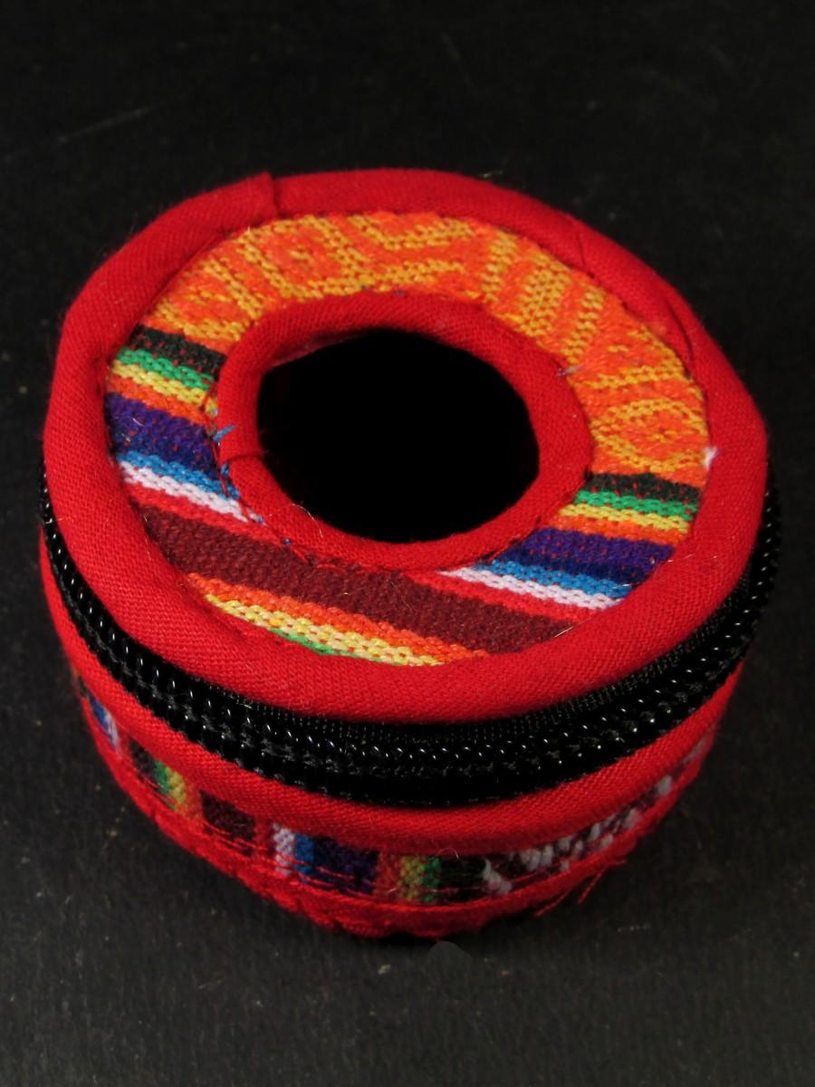 6 cm Tibetan Bhutani fabric Tingsha box - TN23