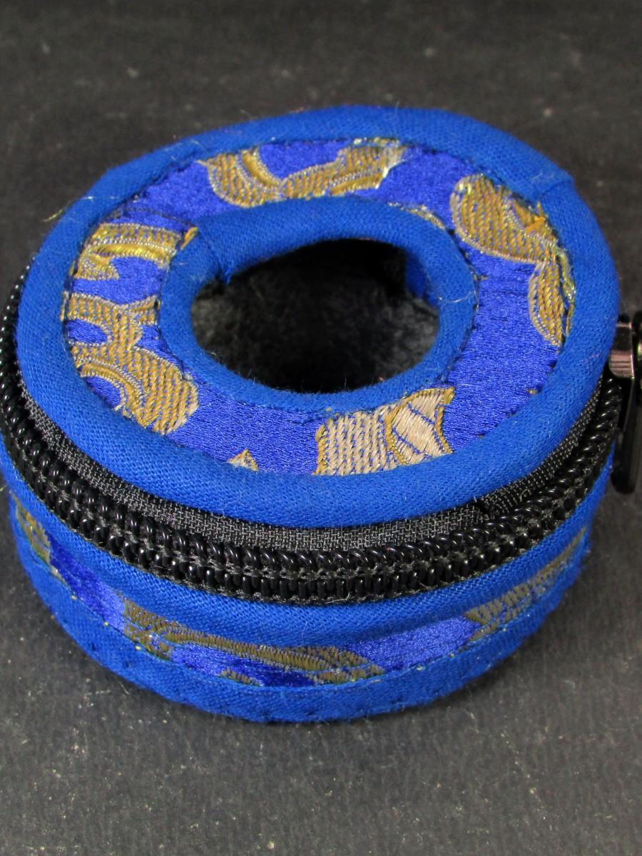 6cm Tibetan brocade Tingsha box bag - TN24