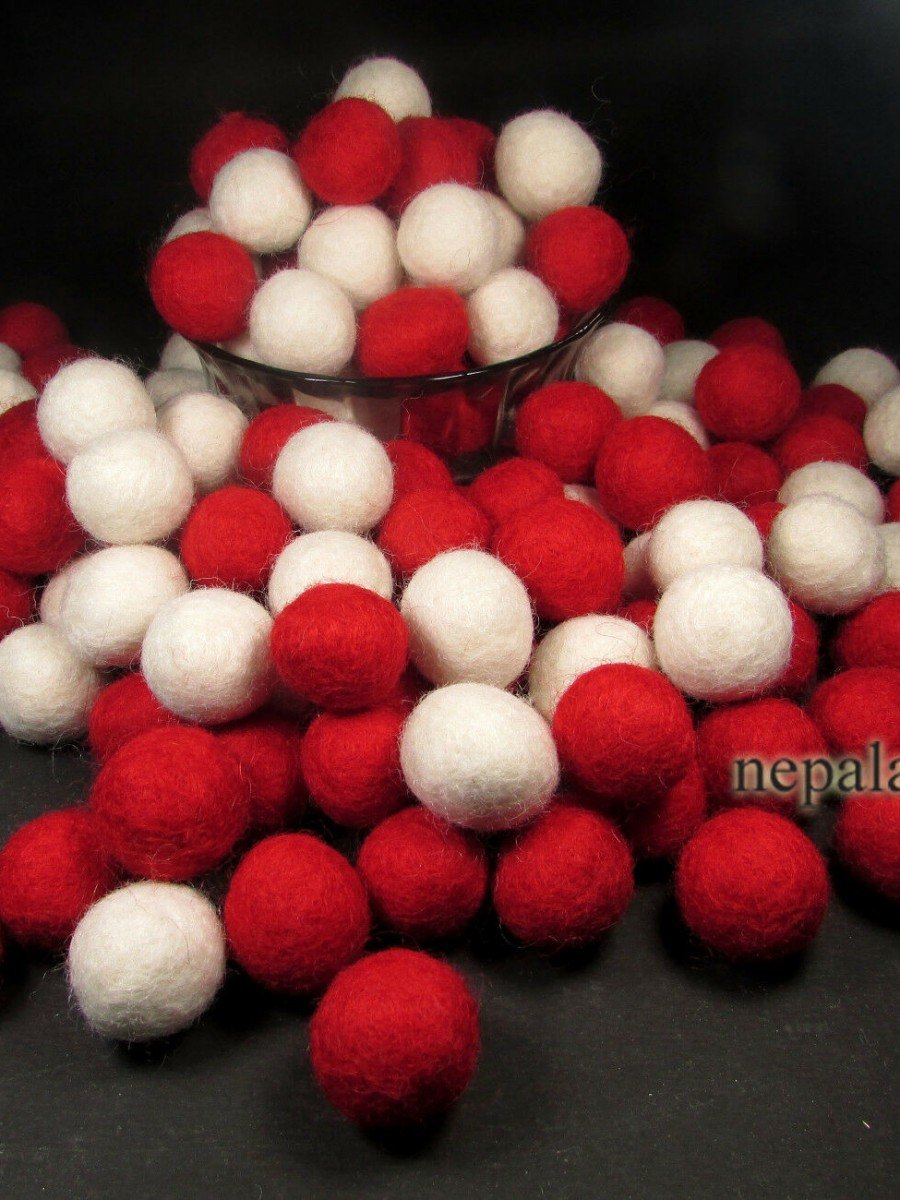 Christmas Decoration Felt Balls 2cm - F118