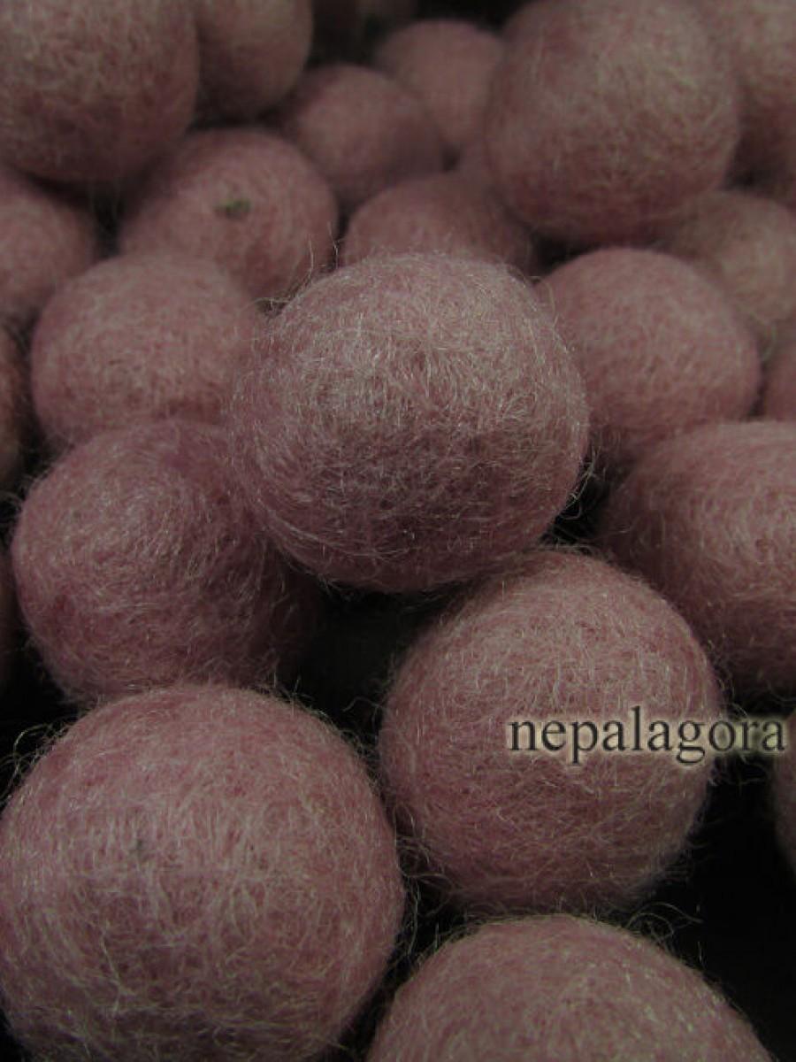 Decorative Felt Ball 2cm Baby Pink Color - F97