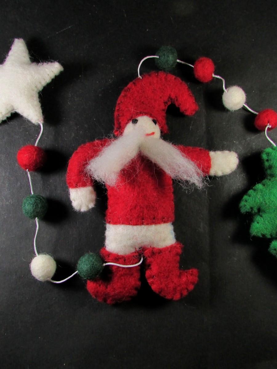 Felt Christmas wall hanging string Garland - F147