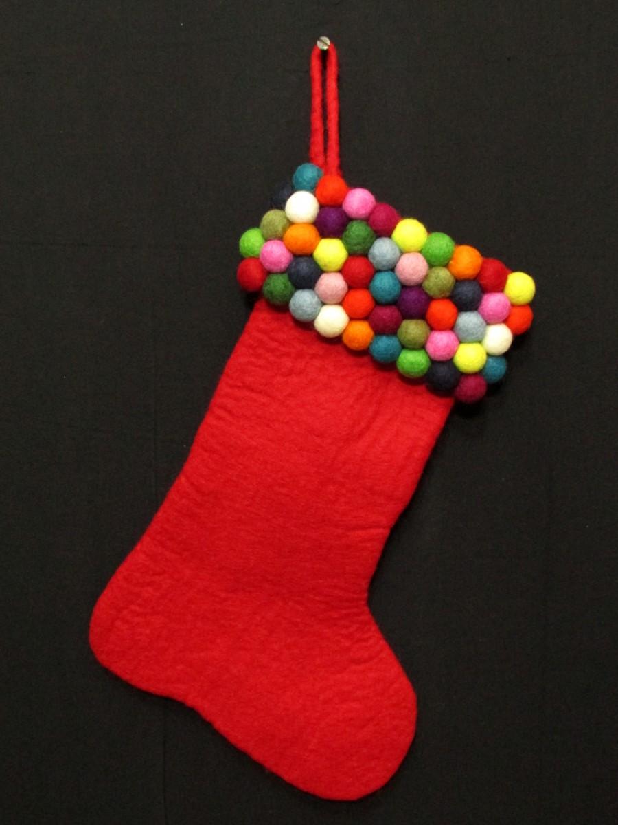 Felt Christmas Xmas Holiday Large Stocking Bag Socks Tree Fireplace Hanging - F140