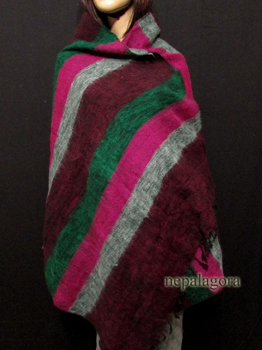 MIx Yak wool wrap stole Multicolor - Sw115